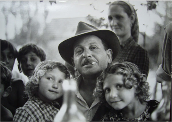 Jan Yoors - Untitled (Man holding Children), c. 1967