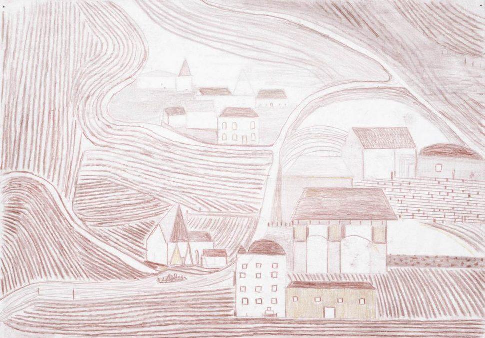 Dirk Zoete - Red Landscape B, 2018