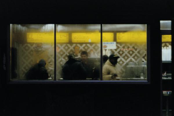 Frank Horvat - New York, 8th Av Midtown, Snack Bar, 1983