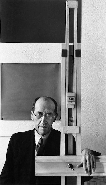 Arnold Newman - Piet Mondrian, New York, 1942