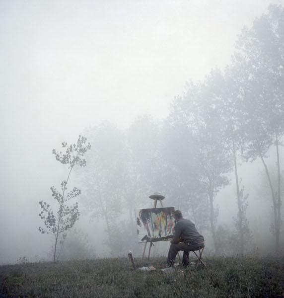 Jacques Henri Lartigue - Moi dans la brume, Piémont, 1955