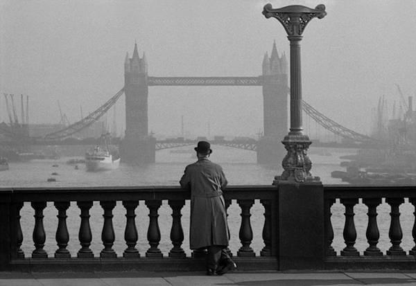 Frank Horvat - London, UK, Tower Bridge seen from London Bridge, 1955
