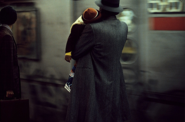 Frank Horvat - New York, Father and Child in the Subway, 1984