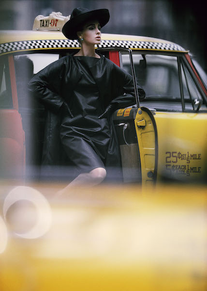 William Klein - Antonia, Yellow Cab, New York, 1962