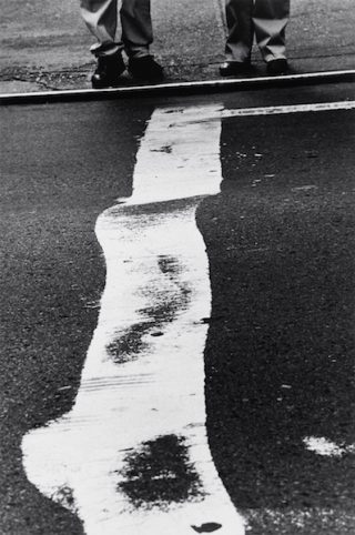 Louis Stettner - Crosswalk Stripe and Men, 1999
