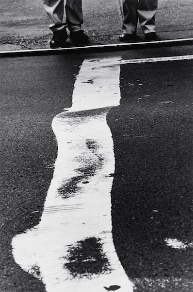 Louis Stettner - Crosswalk Stripe and Men, 1999