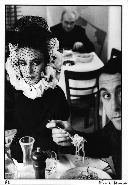 Frank Horvat - Deborah Dixon and and Antero Piletti eating spaghetti (a), for Harper's Bazaar, 1962