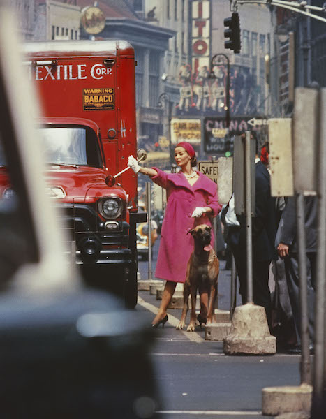 William Klein - Dolores + pink wool, New York (Vogue), 1958