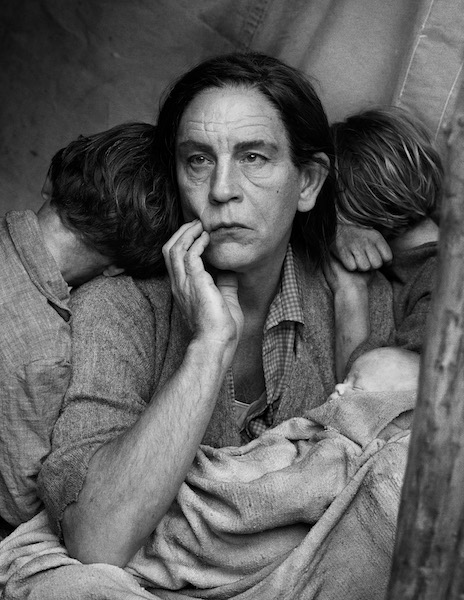 Sandro Miller - Dorothea Lange/ Migrant Mother, Nipomo, California (1936), 2014