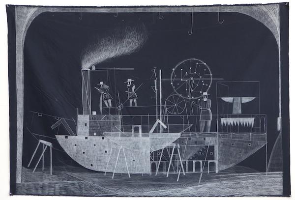 Dirk Zoete - Observatory (blue boat), 2013