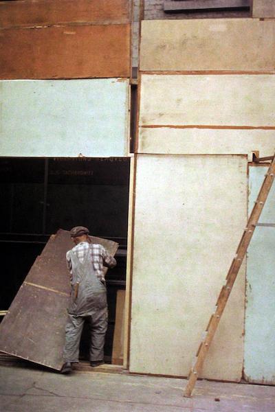 Saul Leiter - Mondrian Worker, 1954