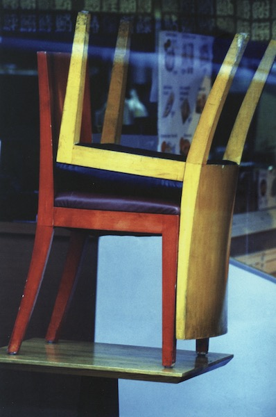 Louis Stettner - Chairs, 9th Avenue, 2004