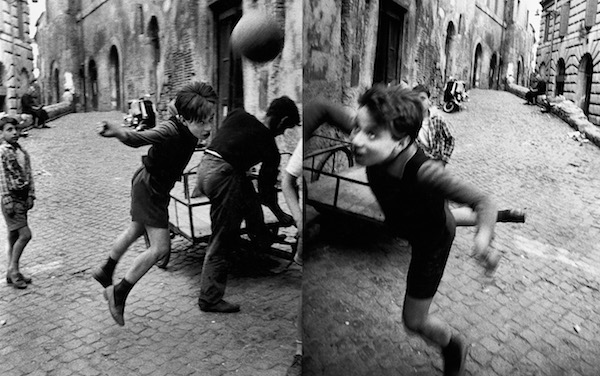 William Klein - Street + Football, Rome, 1958