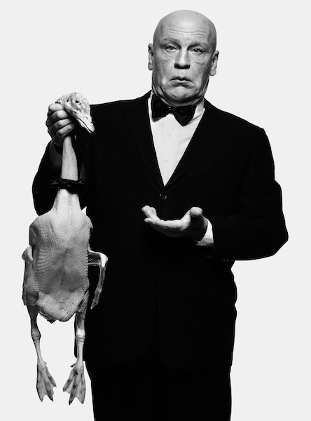 Sandro Miller - Albert Watson/ Alfred Hitchcock with Goose (1973), 2014