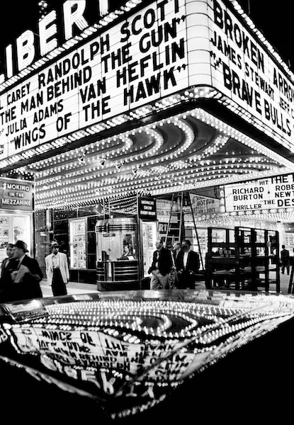 William Klein - Wings of the Hawk, 42nd Street, New York, 1955
