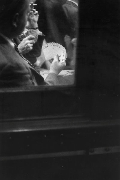 Louis Stettner - Game of Cards, Penn Station, 1958