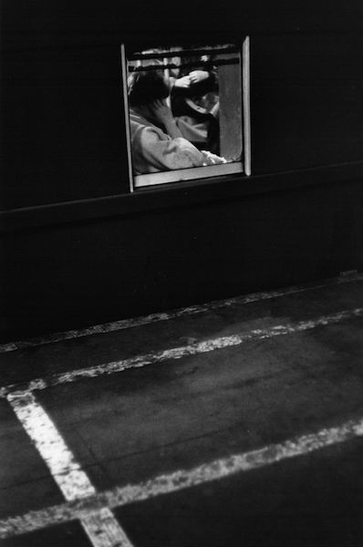 Louis Stettner - Woman, Square Train Window, 1958