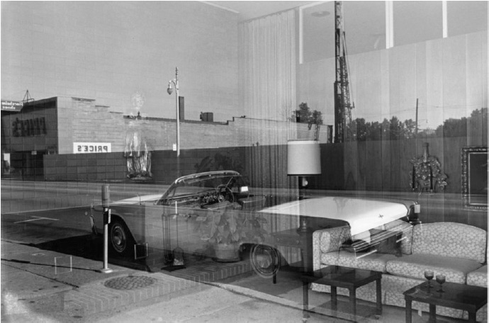Lee Friedlander - Detroit, Lincoln Continental, 1964
