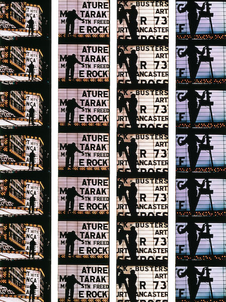 William Klein - Film Strips from Broadway by Light #4, 1958