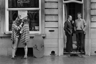 Harry Gruyaert - Belgium, Ypres. Cats festival, 1975