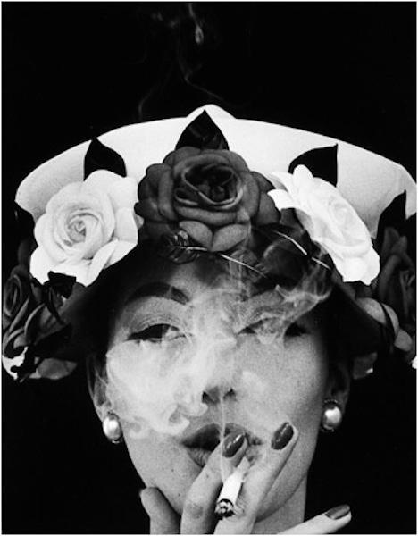 William Klein - Hat and 5 Roses, Paris, Vogue, 1956