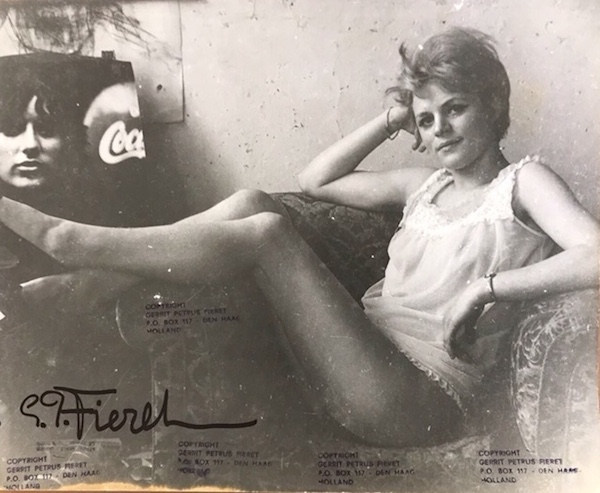 Gerard Petrus Fieret - Untitled (woman in chemise reclining in armchair), ca. 1960s