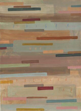 Arpaïs Du Bois - exiger une relecture, 2020 - 150 x 110 cm, mixed media on paper