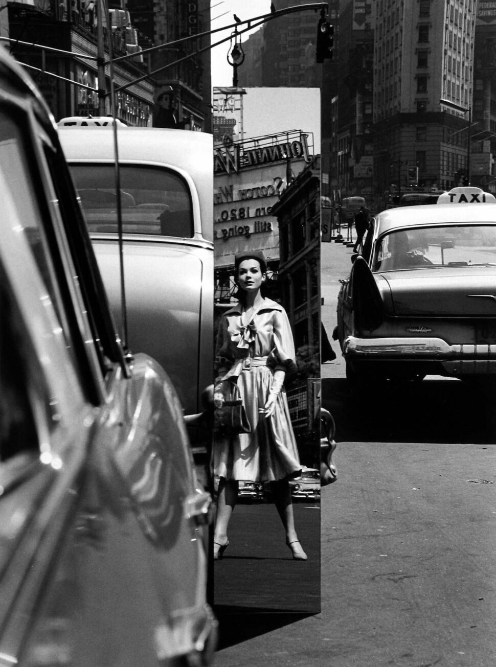 William Klein - Times Square + Mirror, NY Vogue