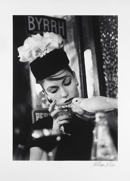 William Klein - Mary + Dove at Cafe, Paris (Vogue), 1957