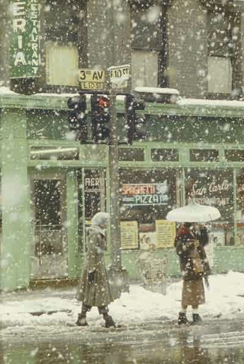 Saul Leiter - Untitled (San Carlo Restaurant at 3rd Avenue and E. 10th Street), 1952