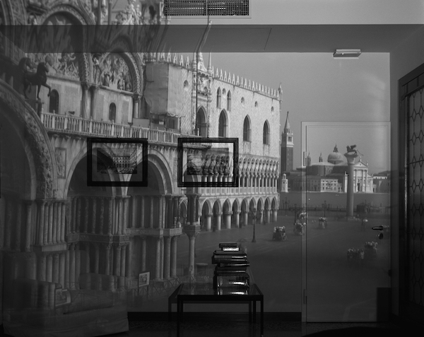 Abelardo Morell - Upright Camera Obscura Image of the Piazzetta San Marco Looking Southeast in Office, Venice, 2007