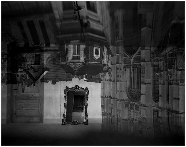 Abelardo Morrel - Camera Obscura Image of Antwerp and Cathedral in Empty Room with Mirror, Belgium, 2006