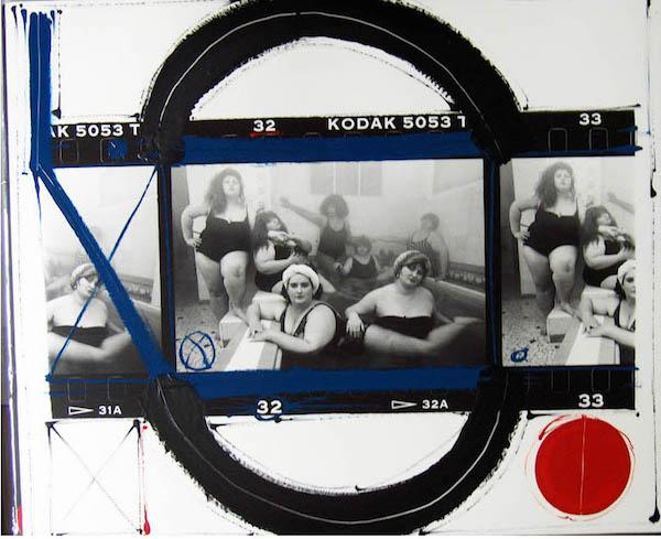 William Klein - Club Allegro Fortissimo, Paris, 1990, painted contact, n.d.