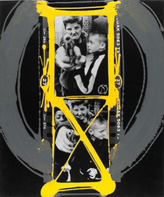 William Klein - Gun 1, painted contact, n.d.