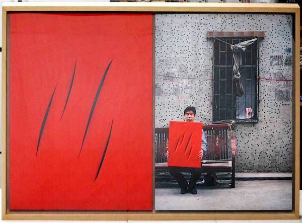 Michael Wolf - Lucio Fontana (2€), Real Fake Art Dyptich, 2006
