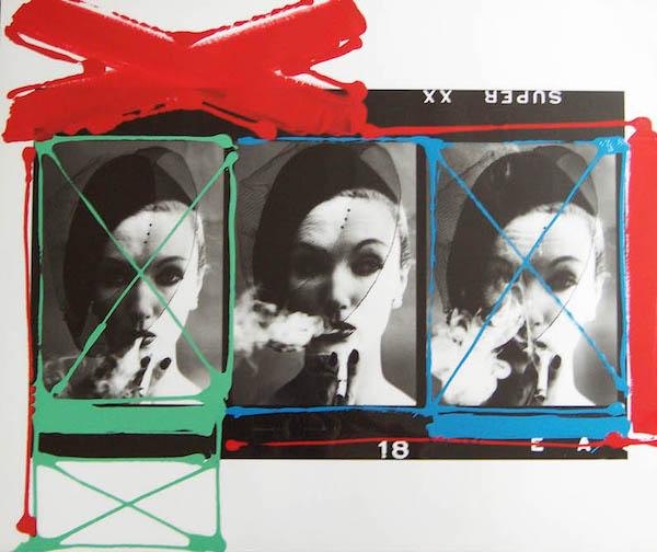 William Klein - Smoke Veil, Paris (Vogue), 1958, painted contact, n.d.