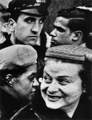 William Klein - 4 Heads, New York, 1954
