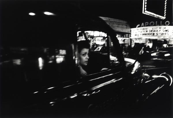 William Klein - Woman in car and Apollo, New York, 1955